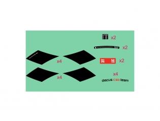 Discus C60 TEAM STEALTH stickers kit
