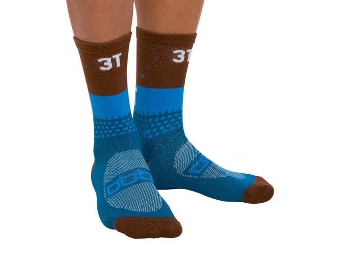 3T Gravel Socks blue/brown